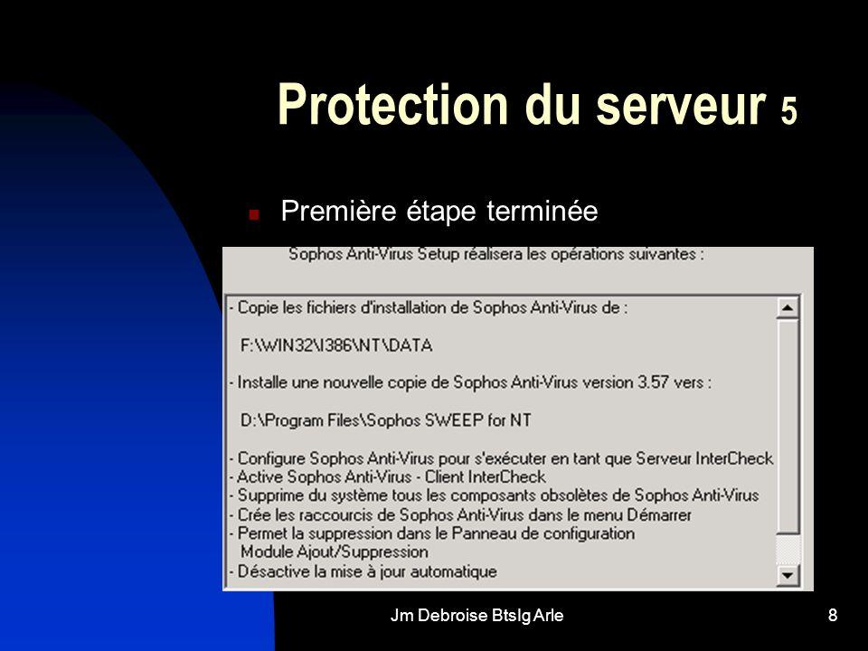 Jm Debroise BtsIg Arle8 Protection du serveur 5 Première étape terminée