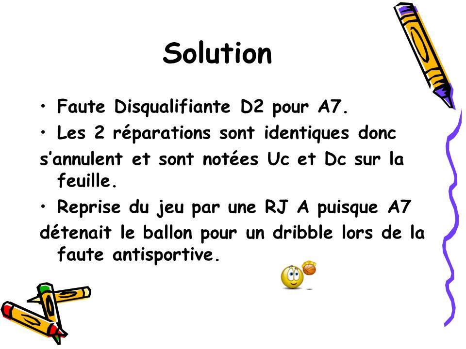 Solution Faute Disqualifiante D2 pour A7.