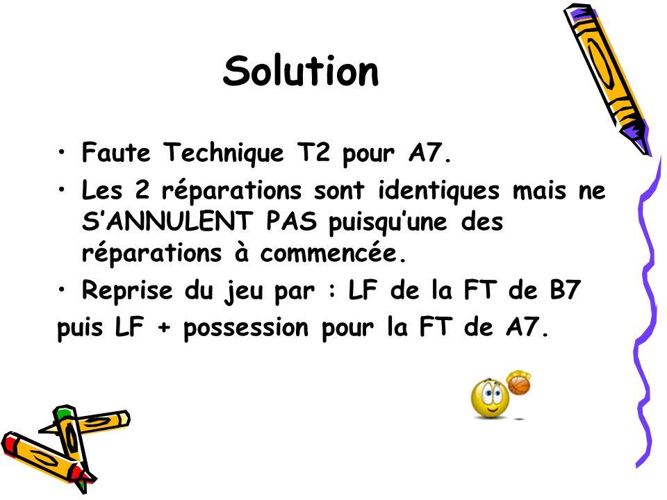 Solution Faute Technique T2 pour A7. Les 2 réparations sont identiques mais ne SANNULENT PAS puisquune des réparations à commencée. Reprise du jeu par