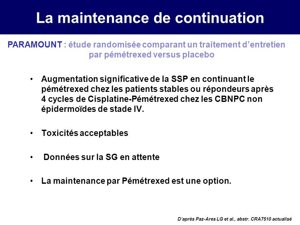 La maintenance de continuation Barlesi et al.