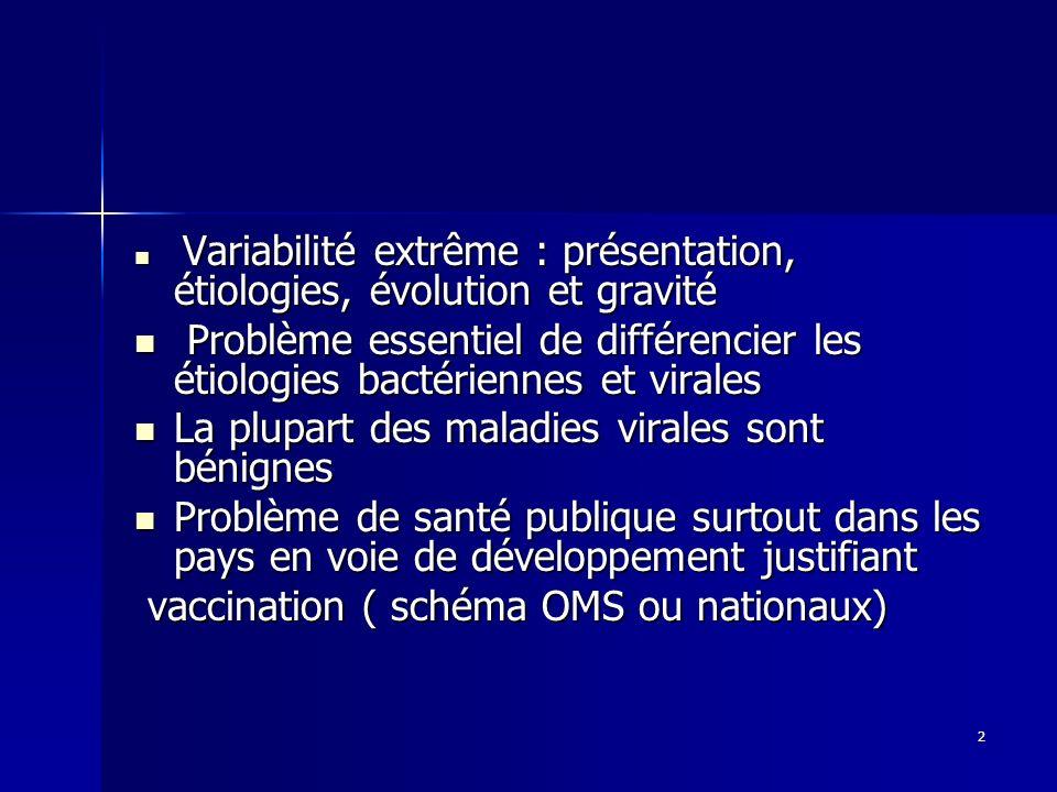 2 Variabilité extrême : présentation, étiologies, évolution et gravité Variabilité extrême : présentation, étiologies, évolution et gravité Problème e