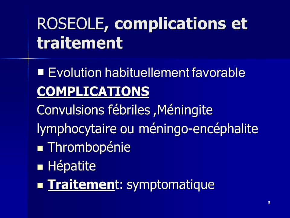 46 SYNDROME PIEDS-MAINS-BOUCHE, diagnostic et traitement Diagnostic: clinique Diagnostic: clinique Traitement: symptomatique Traitement: symptomatique Evolution favorable Evolution favorable