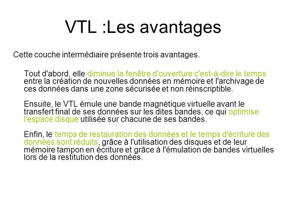 VTL :Les avantages Cette couche intermédiaire présente trois avantages. Tout d'abord, elle diminue la fenêtre d'ouverture c'est-à-dire le temps entre
