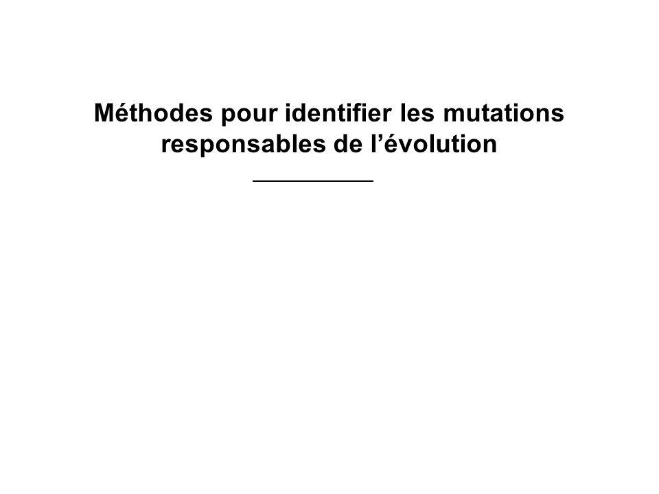 Méthodes pour identifier les mutations responsables de lévolution