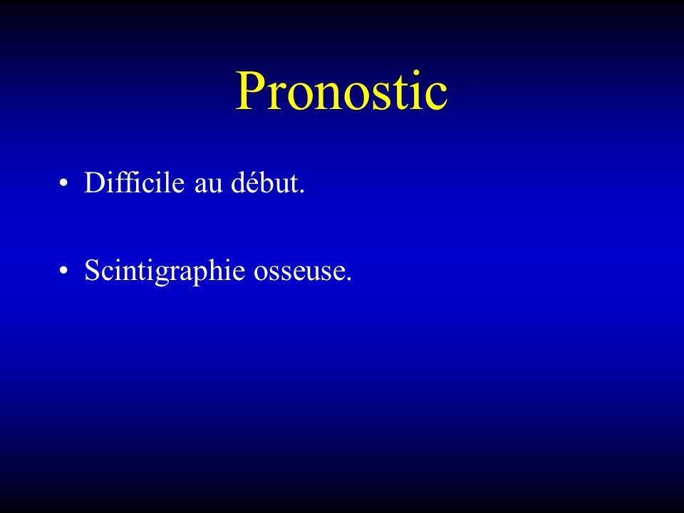 Pronostic Difficile au début. Scintigraphie osseuse.