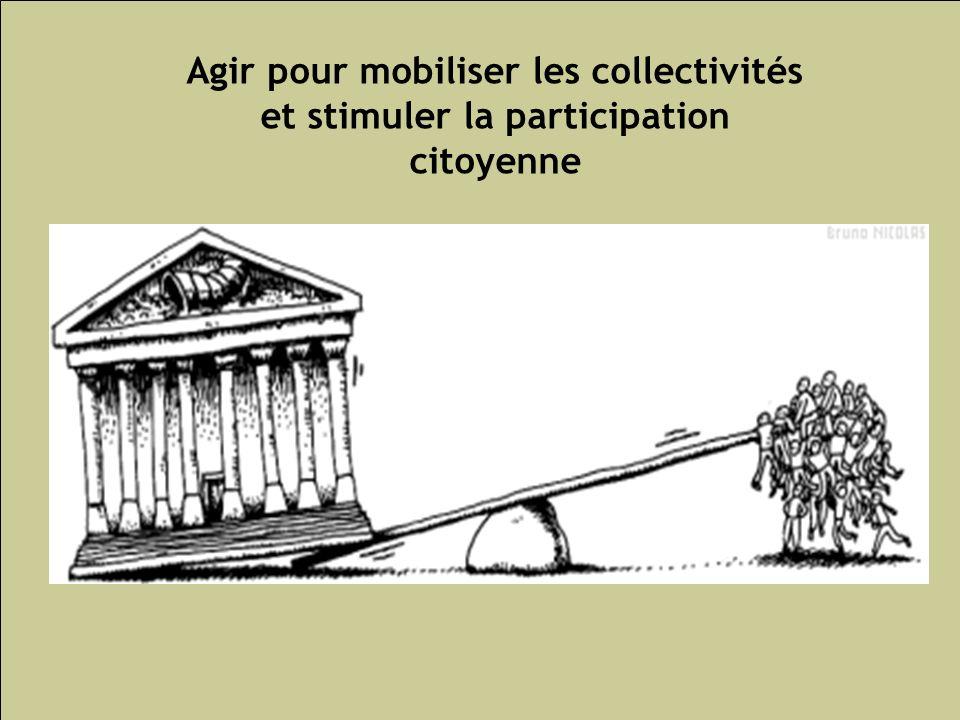 Les inégalités sociales de santé 193 Agir pour mobiliser les collectivités et stimuler la participation citoyenne