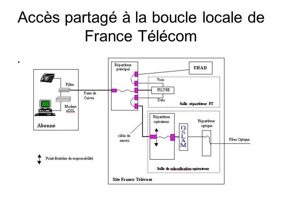 Accès partagé à la boucle locale de France Télécom.