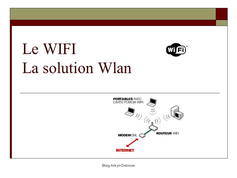 Btsig Arle jm-Debroise Le WIFI La solution Wlan