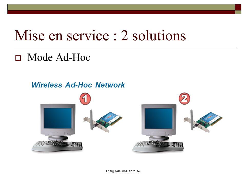 Btsig Arle jm-Debroise Mise en service : 2 solutions Mode Ad-Hoc