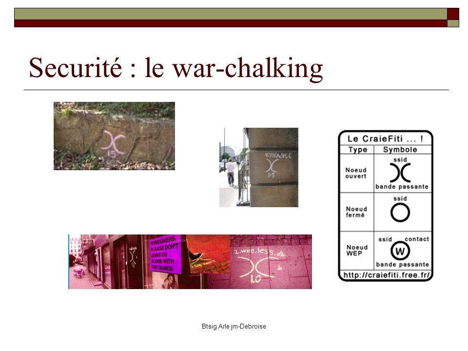 Btsig Arle jm-Debroise Securité : le war-chalking
