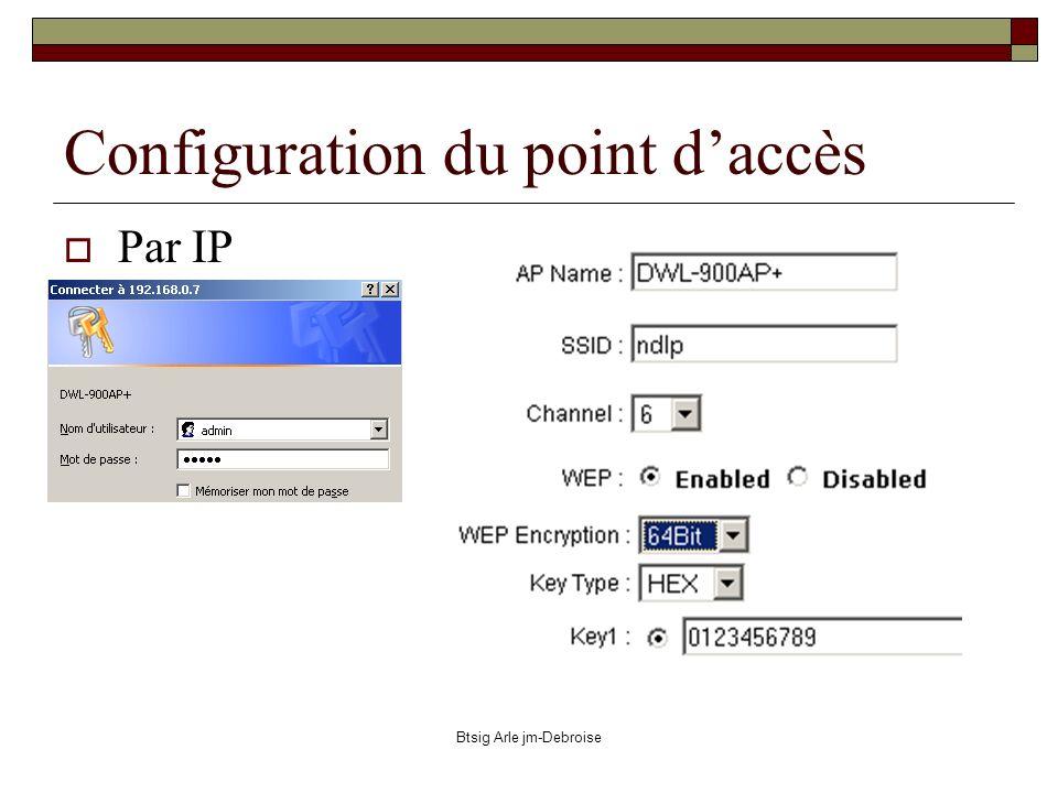 Btsig Arle jm-Debroise Configuration du point daccès Par IP