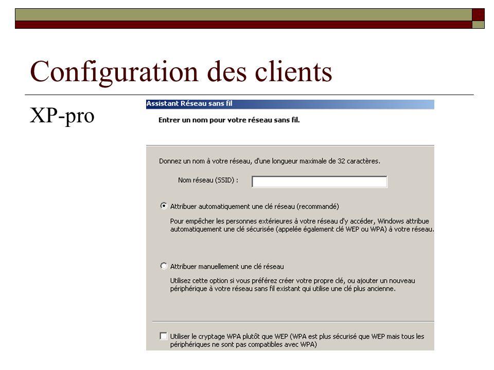 Btsig Arle jm-Debroise Configuration des clients XP-pro