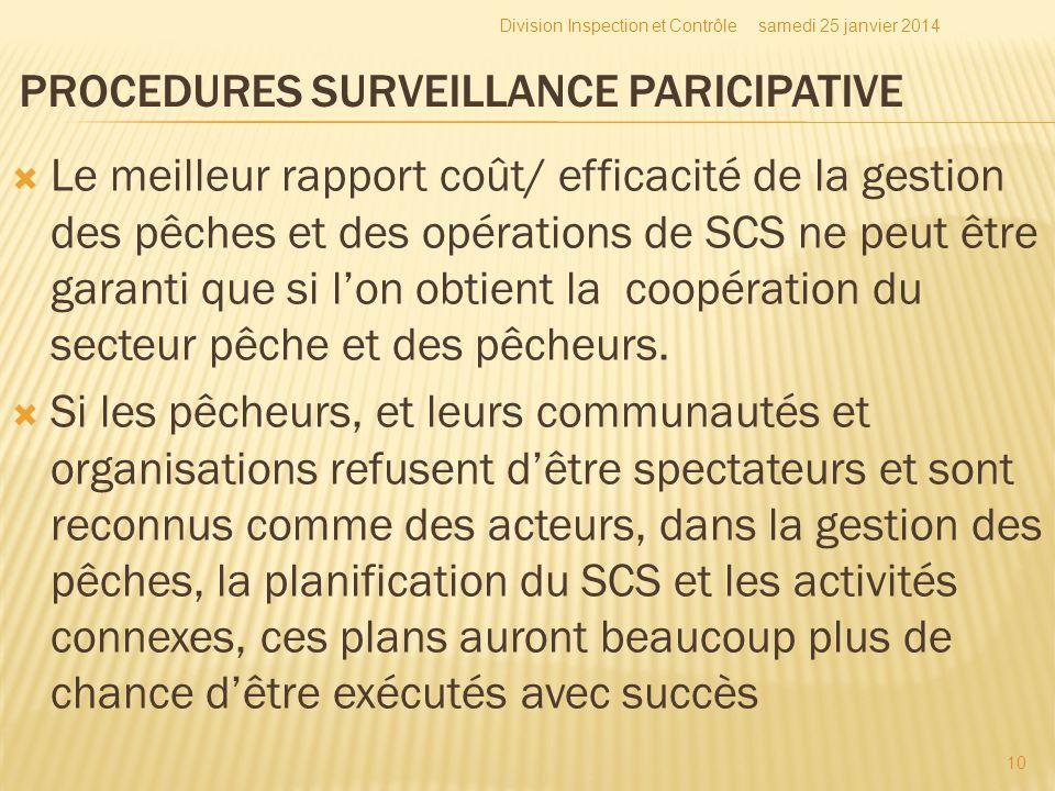 Le meilleur rapport coût/ efficacité de la gestion des pêches et des opérations de SCS ne peut être garanti que si lon obtient la coopération du secte