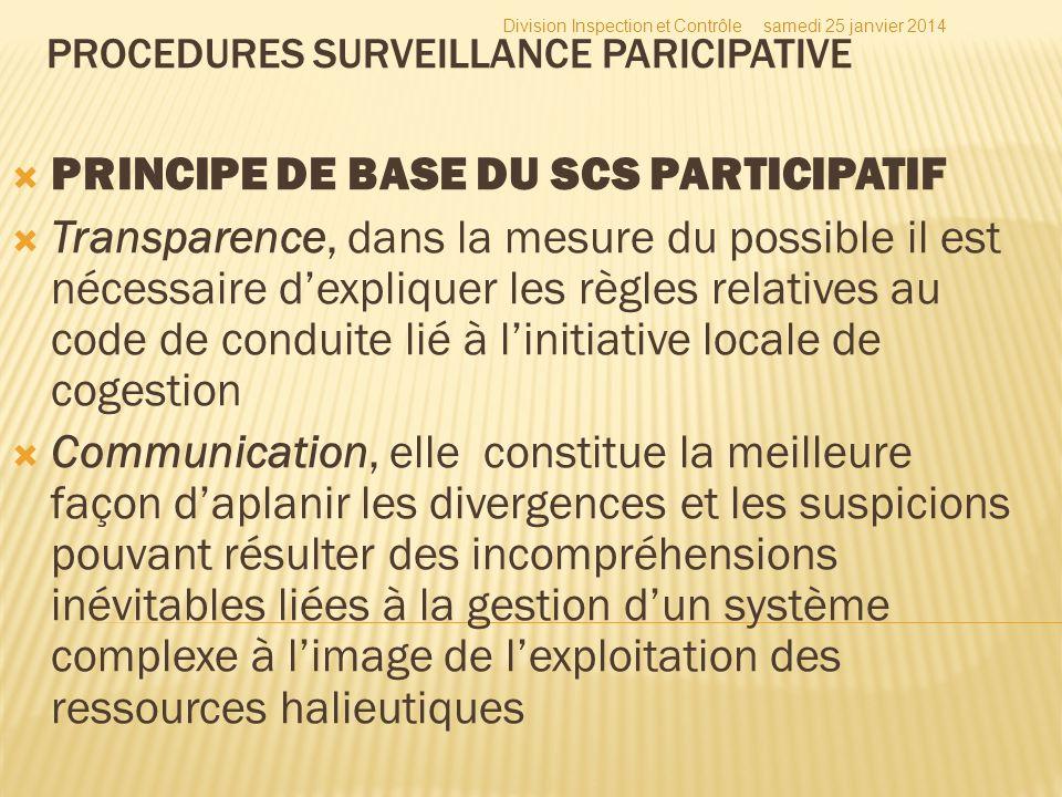 PRINCIPE DE BASE DU SCS PARTICIPATIF Transparence, dans la mesure du possible il est nécessaire dexpliquer les règles relatives au code de conduite li