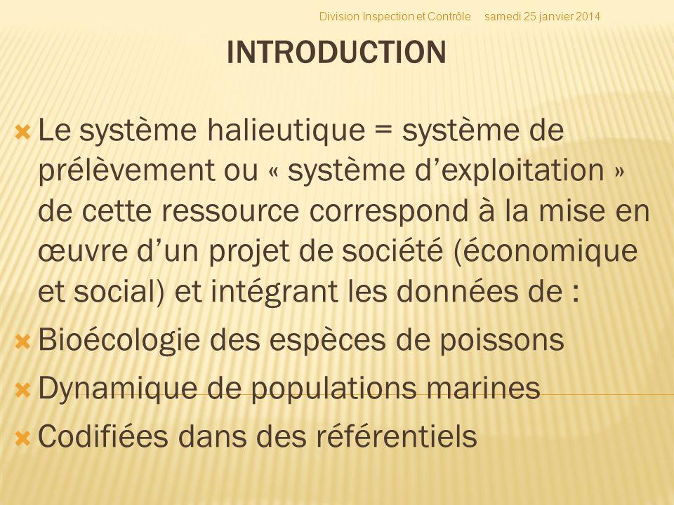 Le système halieutique = système de prélèvement ou « système dexploitation » de cette ressource correspond à la mise en œuvre dun projet de société (é