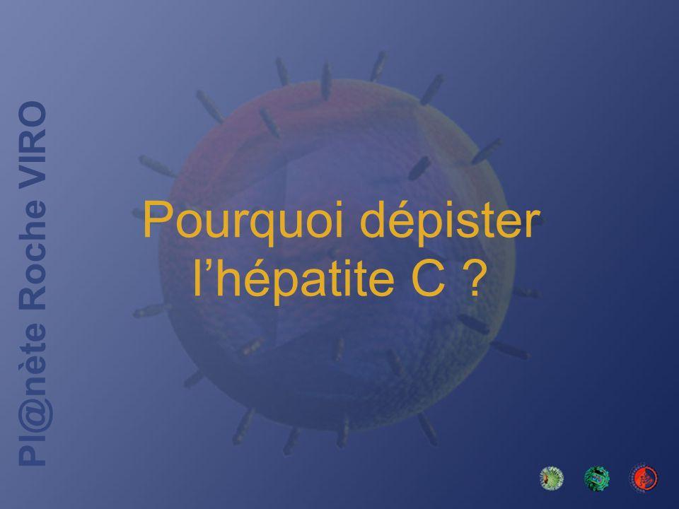 Pl@nète Roche VIRO Transmission par le sang (1,2) Comportement ou geste à risque Origine familiale Source hospitalière nosocomiale Infection par dautres virus 1.Lhépatite C: du dépistage au traitement.