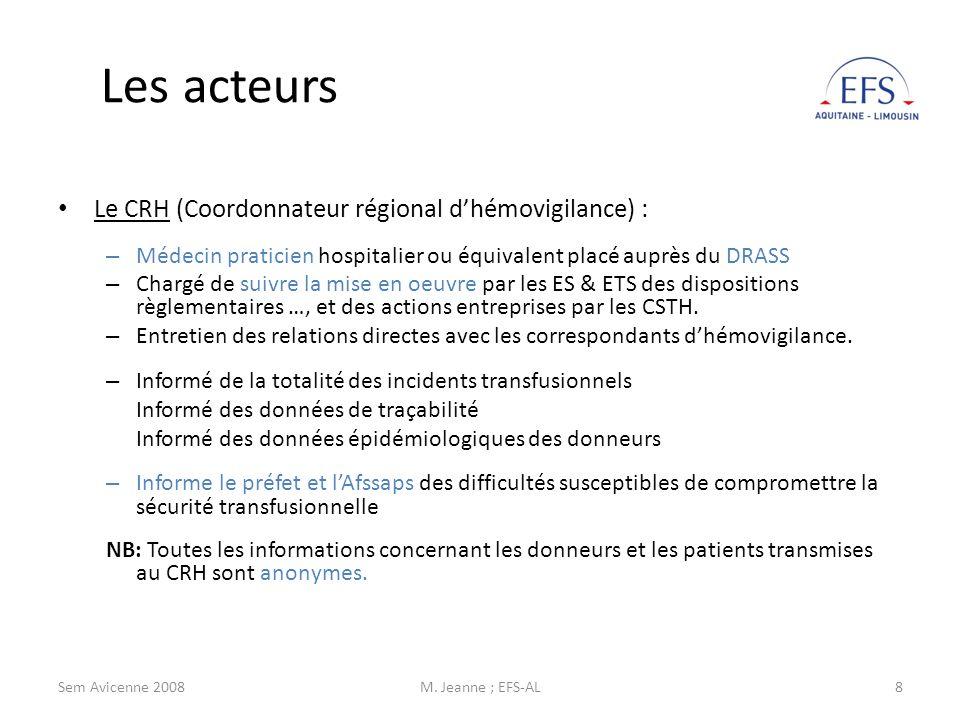 Sem Avicenne 2008M. Jeanne ; EFS-AL19