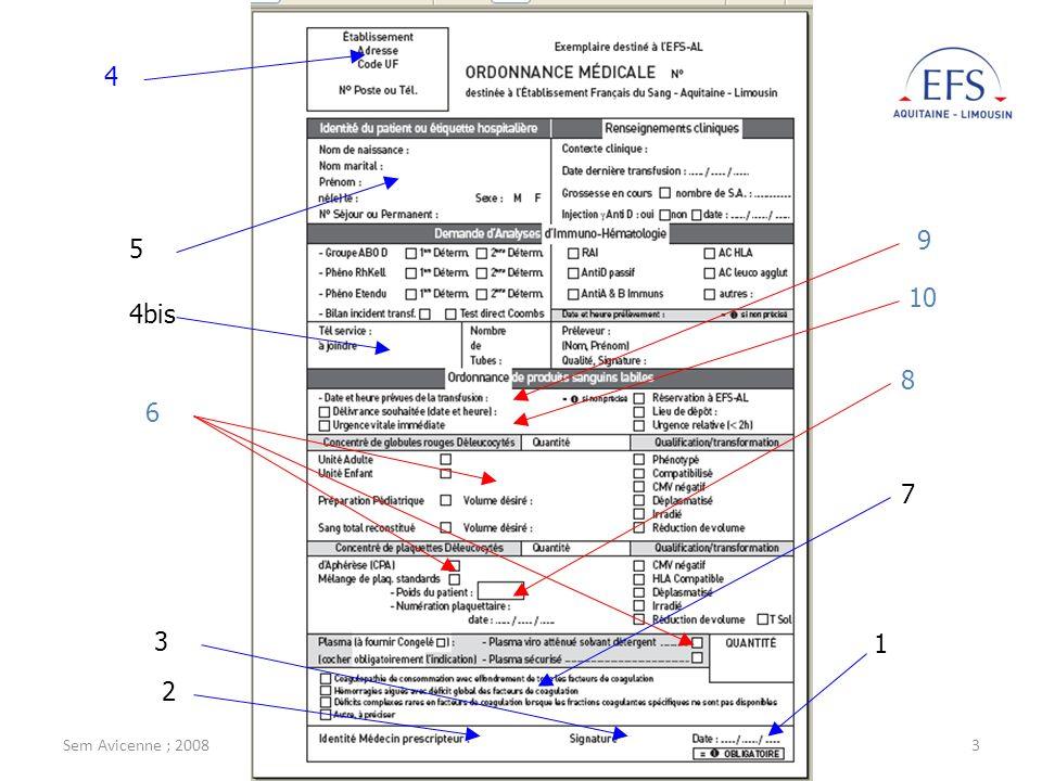 Sem Avicenne ; 2008M. Jeanne ; EFS-AL3 1 2 3 4 4bis 5 6 7 8 9 10