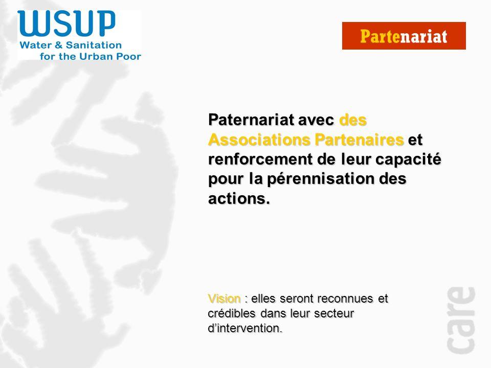 Partenariat Vision : elles seront reconnues et crédibles dans leur secteur dintervention.