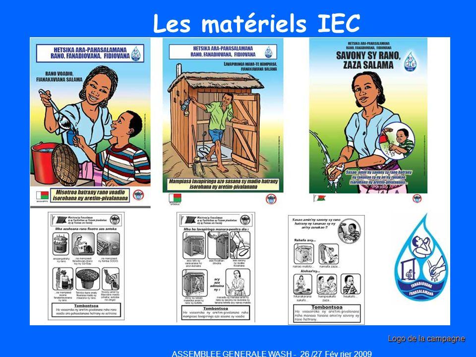 Les matériels IEC ASSEMBLEE GENERALE WASH - 26 /27 Fév rier 2009 Logo de la campagne