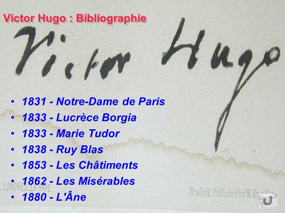 Victor Hugo est né à Besançon en 1802. Il représente le romantisme français. Il publie des romans, des pièces de théâtre et des poèmes. Il part en exi