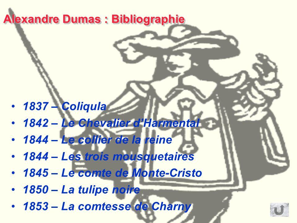 Alexandre Dumas Biographie Alexandre Dumas est né le 24 juillet 1802 à Villers-Cotterêts, dans l'Aisne. Dumas est un grand voyageur. Il fait de la pol