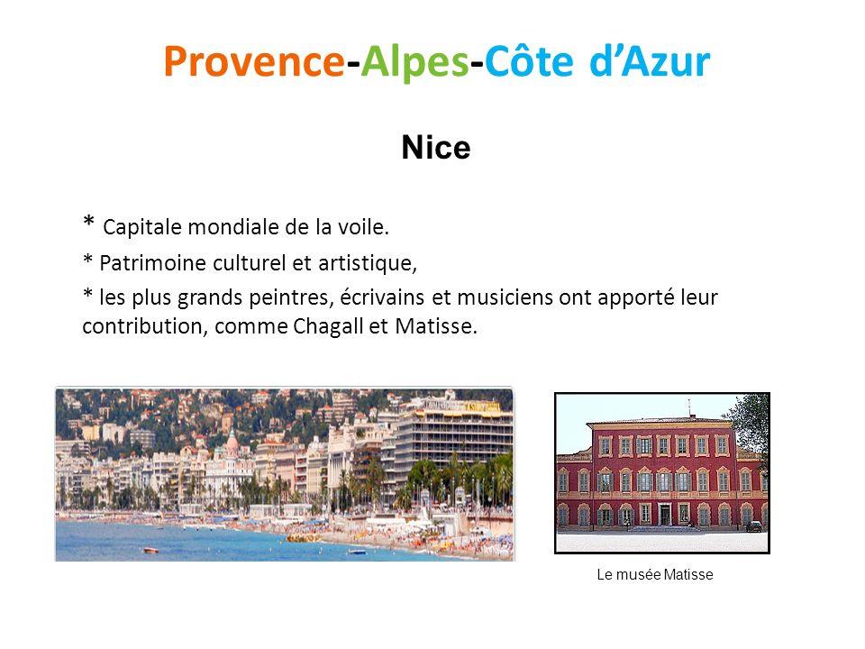 Provence-Alpes-Côte dAzur * Capitale mondiale de la voile. * Patrimoine culturel et artistique, * les plus grands peintres, écrivains et musiciens ont
