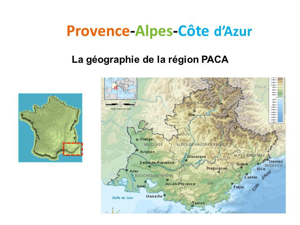 Provence-Alpes-Côte dAzur Les départements de la région PACA Les départements de la région Provence-Alpes-Côte-d Azur sont : les Alpes-de-Haute-Provence,Alpes-de-Haute-Provence les Alpes-Maritimes,Alpes-Maritimes les Bouches-du-Rhône,Bouches-du-Rhône les Hautes-Alpes,Hautes-Alpes le Var,Var le Vaucluse.Vaucluse