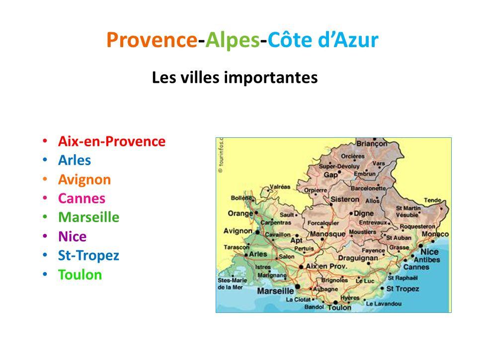 Provence-Alpes-Côte dAzur Vieille de 2 600 ans, Marseille est le plus grand port de France Reconnue pour sa gastronomie, la bouillabaisse en particulier.