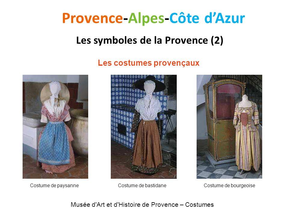 Provence-Alpes-Côte dAzur Les symboles de la Provence (2) Les costumes provençaux Musée d'Art et d'Histoire de Provence – Costumes Costume de paysanne