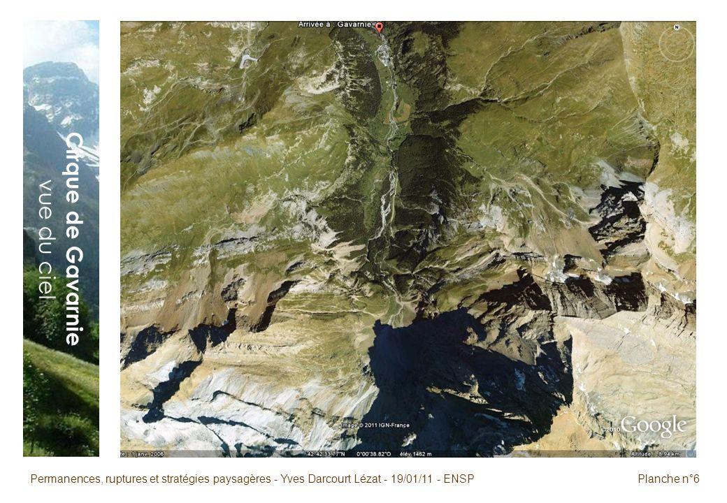 Permanences, ruptures et stratégies paysagères - Yves Darcourt Lézat - 19/01/11 - ENSPPlanche n°6 Cirque de Gavarnie vue du ciel