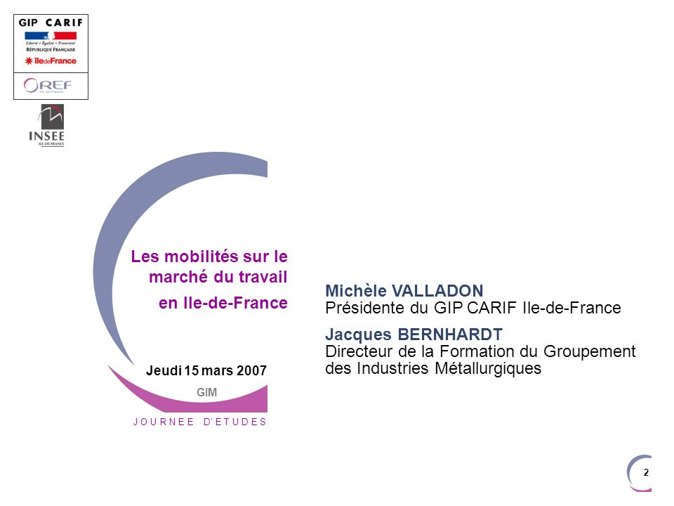 33 Les questions posées La mobilité professionnelle est-elle plus importante en Ile-de-France quen province .