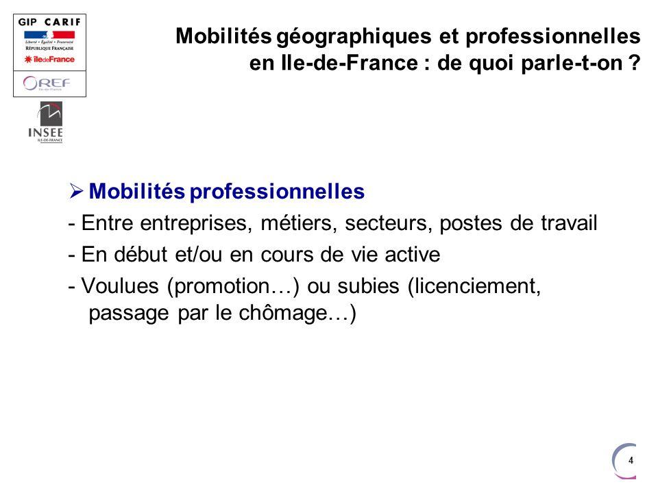 5 Mobilités géographiques et professionnelles en Ile-de-France : de quoi parle-t-on .