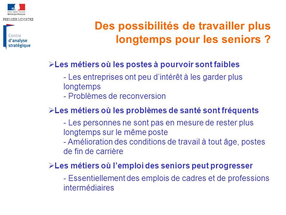 PREMIER MINISTRE Des possibilités de travailler plus longtemps pour les seniors .