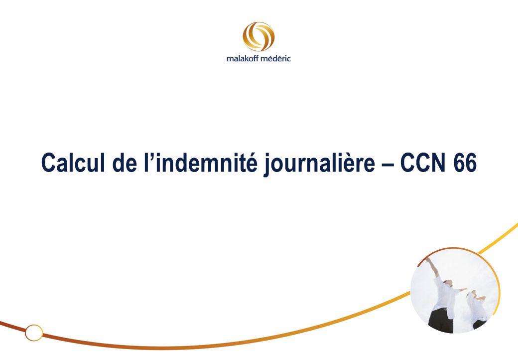 2 Calcul de lindemnité journalière – CCN 66