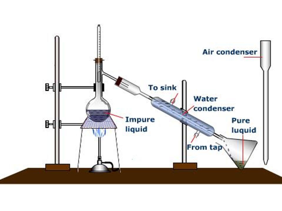 La distillation permet de séparer les constituants d un mélange homogène formé de liquides dont les températures de vaporisation sont éloignées de plusieurs degrès Celcius.