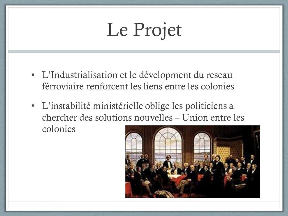 Le Projet LIndustrialisation et le dévelopment du reseau férroviaire renforcent les liens entre les colonies Linstabilité ministérielle oblige les pol