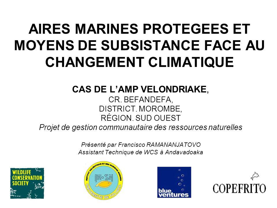AIRES MARINES PROTEGEES ET MOYENS DE SUBSISTANCE FACE AU CHANGEMENT CLIMATIQUE CAS DE LAMP VELONDRIAKE, CR. BEFANDEFA, DISTRICT. MOROMBE, RÉGION. SUD