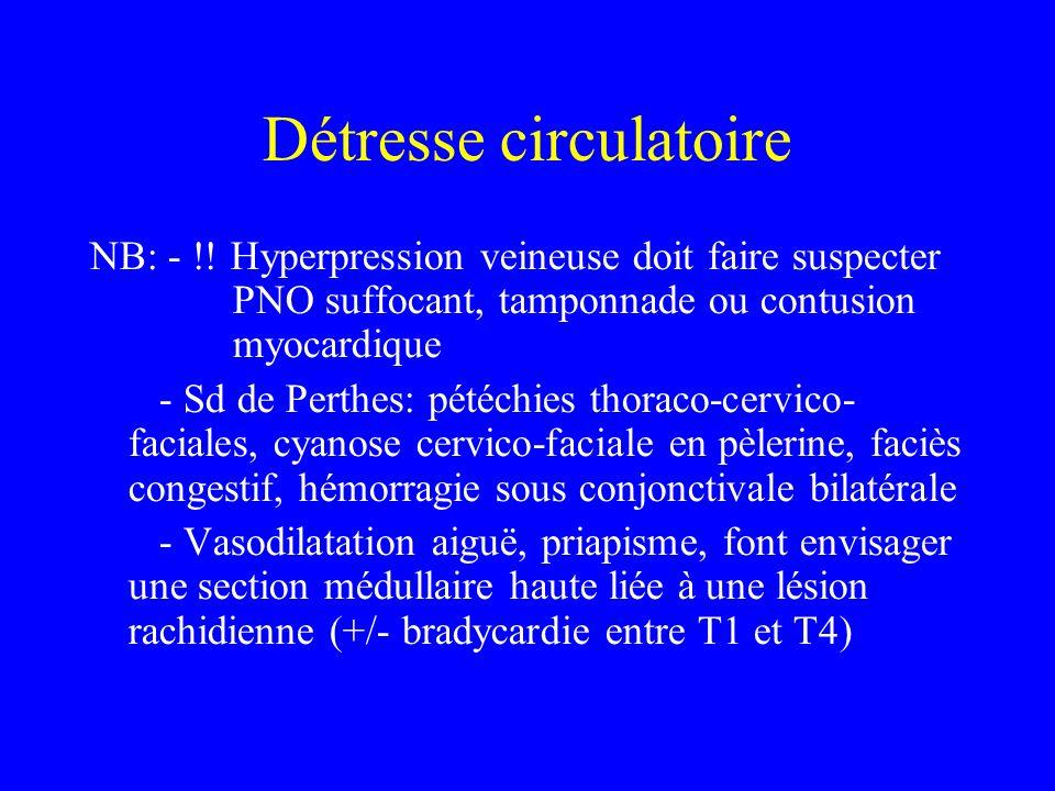 Détresse circulatoire NB: - !.