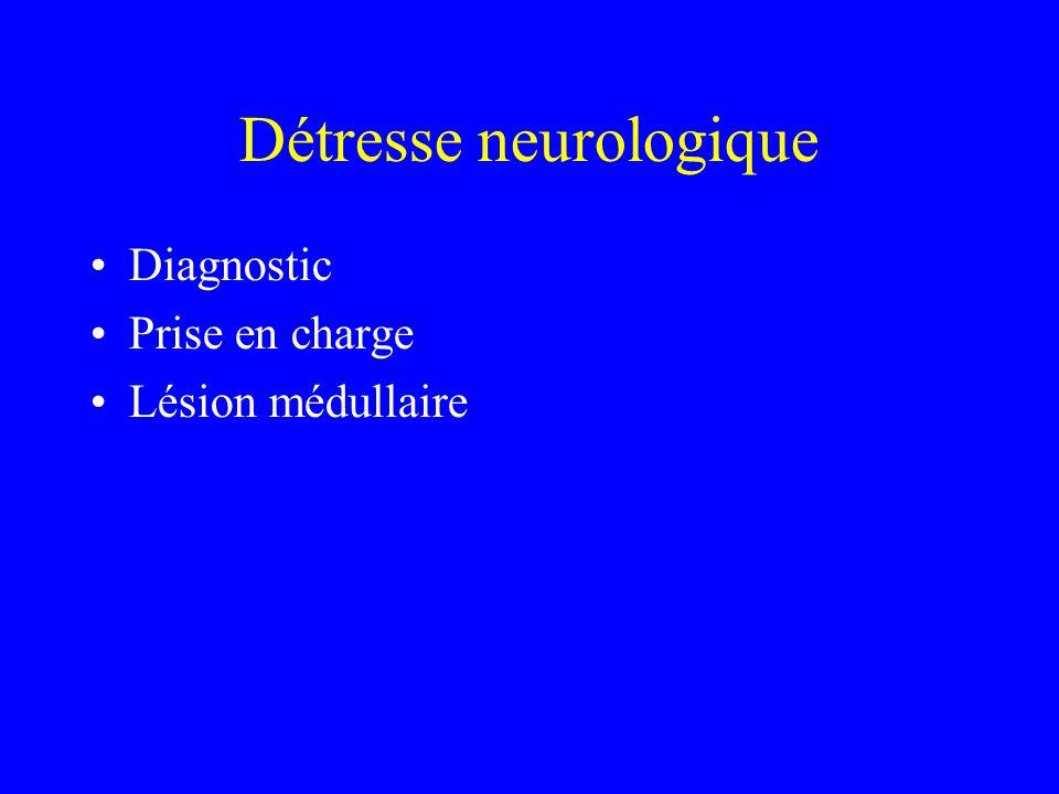 Détresse neurologique Diagnostic Prise en charge Lésion médullaire