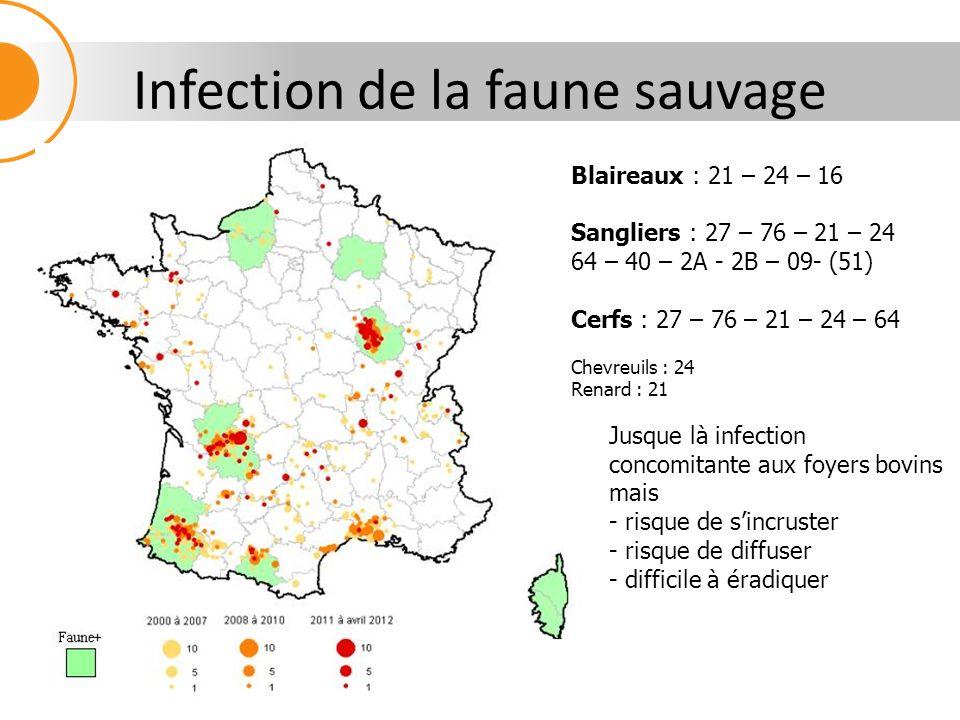 Taux dexploitations tuberculinées par commune Le zonage correspond bien aux zones à risque 16 768 exploitations testées (7%)