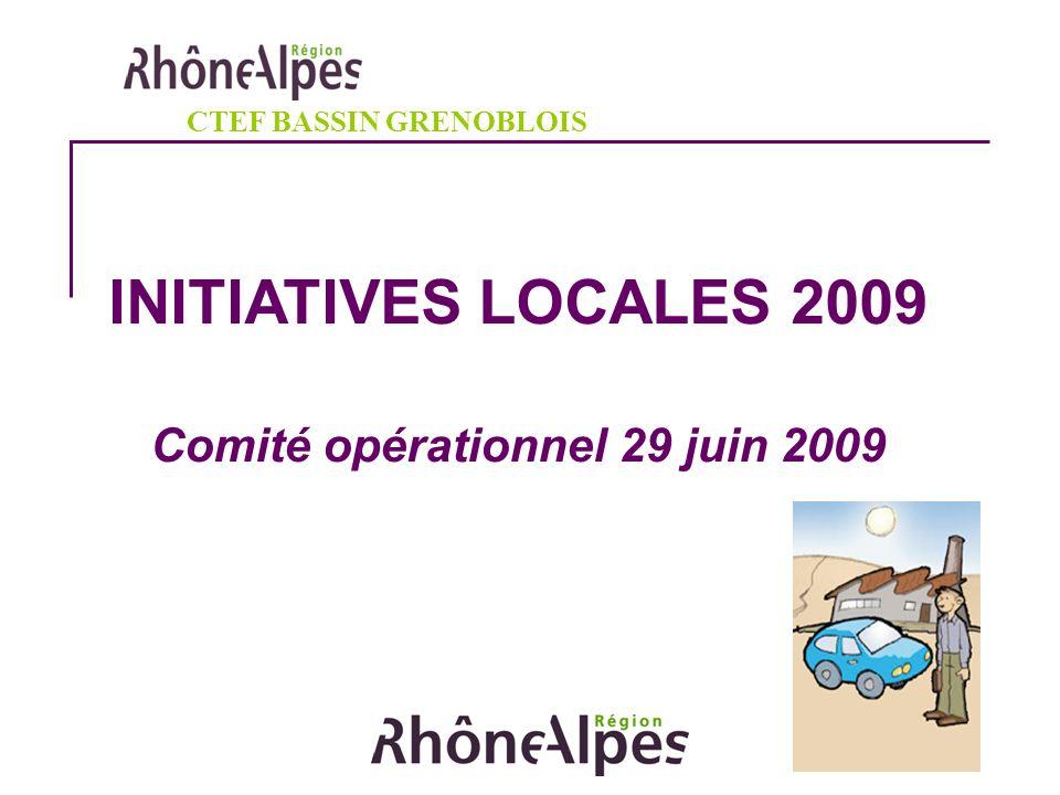 INITIATIVES LOCALES 2009 Comité opérationnel 29 juin 2009 CTEF BASSIN GRENOBLOIS
