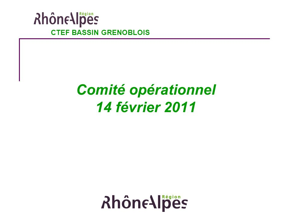 Comité opérationnel 14 février 2011 CTEF BASSIN GRENOBLOIS