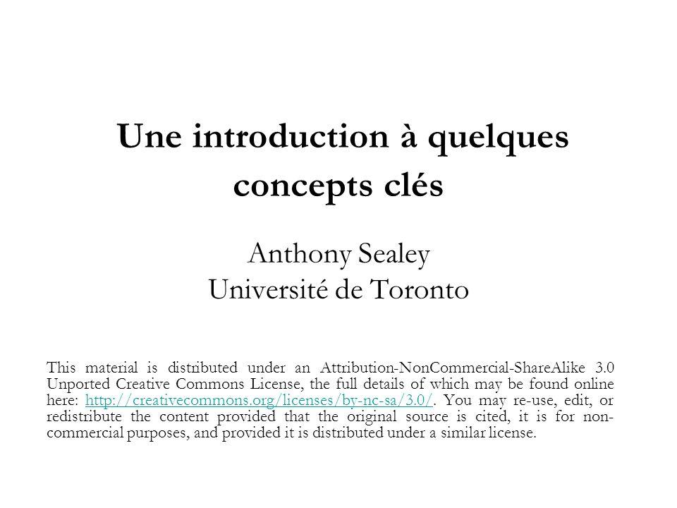 Concepts clés à aborder 1) Théories, concepts et variables 2) Mesures et indicateurs