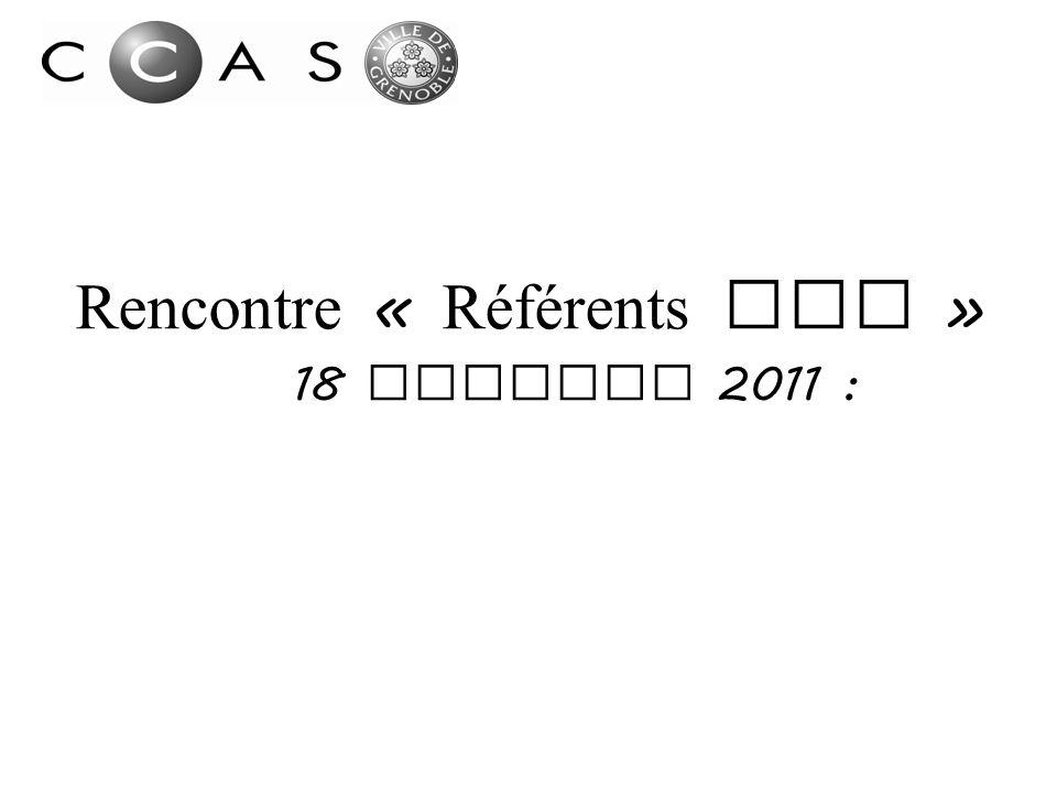 Rencontre « Référents RSA » 18 Octobre 2011 :