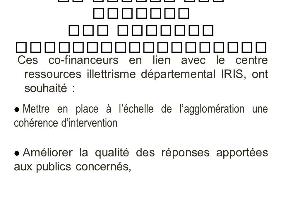 Le Cahier des Charges des Actions Sociolinguistiques Ces co-financeurs en lien avec le centre ressources illettrisme départemental IRIS, ont souhaité