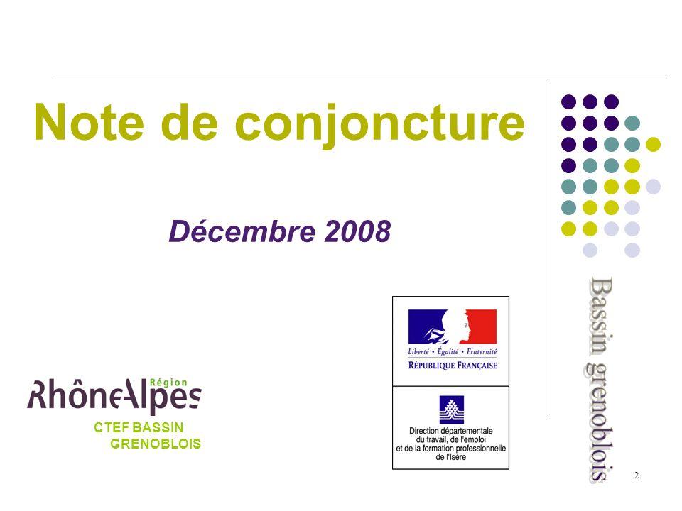 2 Note de conjoncture Décembre 2008 CTEF BASSIN GRENOBLOIS