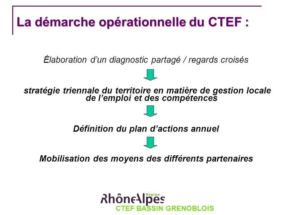 CTEF BASSIN GRENOBLOIS La démarche opérationnelle du CTEF : Élaboration dun diagnostic partagé / regards croisés stratégie triennale du territoire en