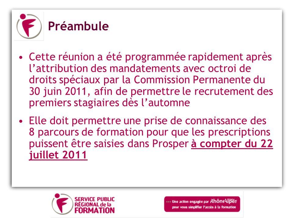 Le parcours dans la Drôme – Les sessions 2 sessions annuelles Dates de démarrage : 1ère Session : Novembre 2011 2ème Session : Mai 2012