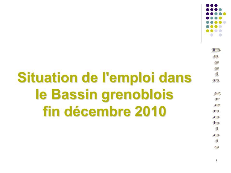 3 Situation de l'emploi dans le Bassin grenoblois fin décembre 2010